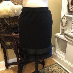 Lane Bryant NWT 22 Black Skirt Ribbon Bottom!